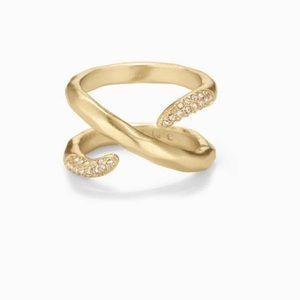 EUC stella and Dot Adeva wrap ring size 7
